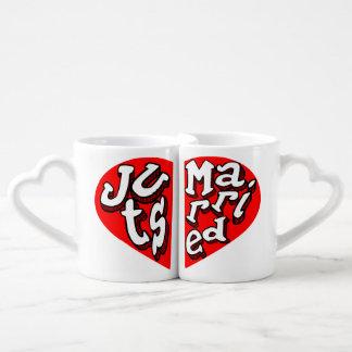wedding,newly weds,just married, lovers mug sets