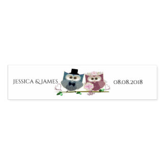 Wedding Owls Personalize Napkin Bands