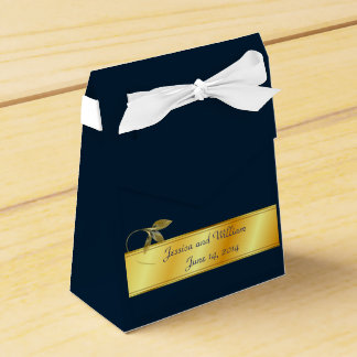 Wedding Party Gift Box in Gold and Navy Party Favour Boxes