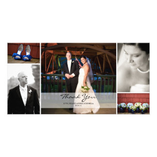 Wedding Photo Collage - Thank You Picture Card