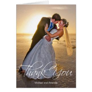 Wedding Photo Custom Thank You Card