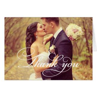 Wedding Photo | Script Thank You Card