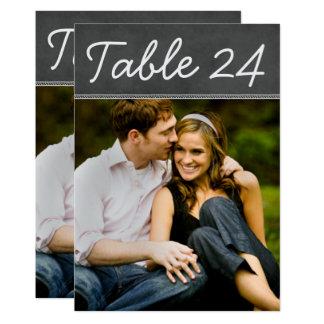 Wedding Photo Table Number Cards | Chalkboard 13 Cm X 18 Cm Invitation Card
