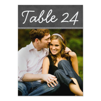 Wedding Photo Table Number Cards | Chalkboard Personalized Announcement