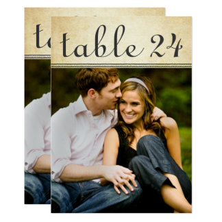 Wedding Photo Table Number Cards | Rustic Charm