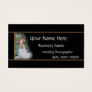 Wedding Photographer Business Elegant card - color