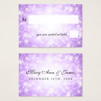Wedding Placecards Purple Winter Wonderland Business Card