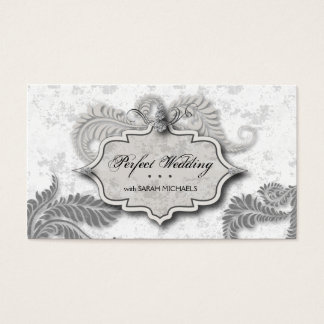 Wedding Planner Business Card Elegant Fern Diamond