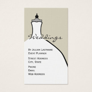 Wedding Planner - Wedding Dress Form Business Card