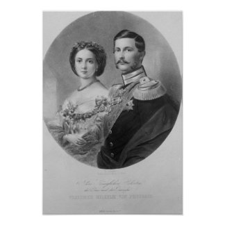 Wedding Portrait of Their Royal Highnesses Poster