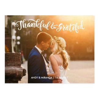 Wedding Postcards Wedding Photocard Thank You Card