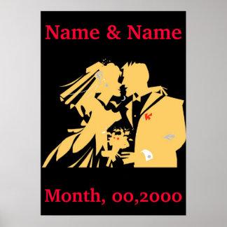 Wedding Poster, Edit Text Poster