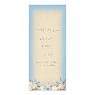 Wedding Program Beautiful Tropical Beach Shells 10 Cm X 24 Cm Invitation Card