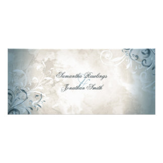 Wedding Program - Elegant Vintage Foliage & Swirls Rack Card