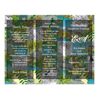 Wedding Program Folder Blossom Garden Personalized Flyer