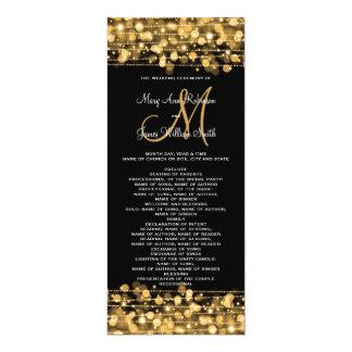 Wedding Program Party Sparkles Gold 10 Cm X 24 Cm Invitation Card