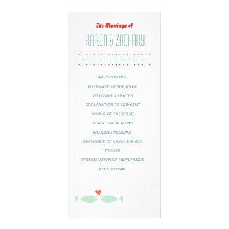 Wedding Program Rack Card