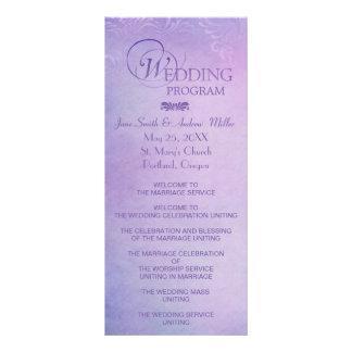 Wedding program Rack Cards - grungy purple