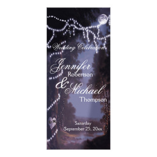 Wedding Program | Tree  Lights Custom Rack Cards