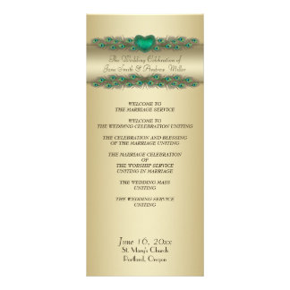 Wedding Programs - Gold banner Personalized Rack Card