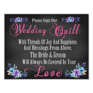 "Wedding Quilt ""Guest Book"" Squares Sign"
