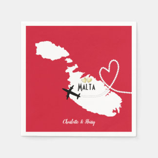 Wedding Reception Party Married In Malta Paper Napkin