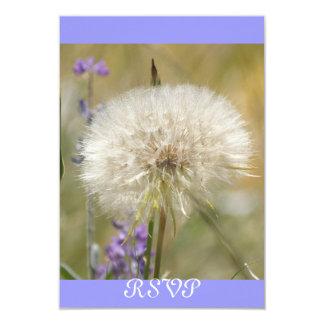 Wedding Reception RSVP Dandelion Card