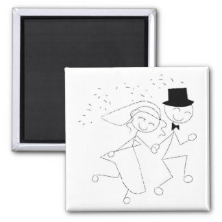 Wedding Recessional Couple Square Magnet