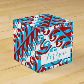 wedding red blue paisley PERSONALIZE Favour Box