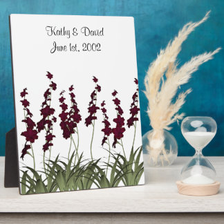 Wedding Red Flowers Plaque