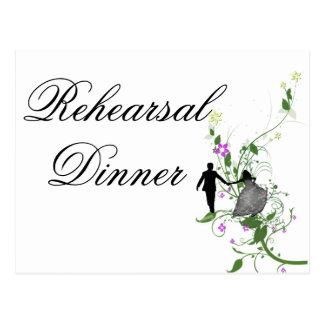 Wedding Rehearsal  Dinner Invitation floral Postcard