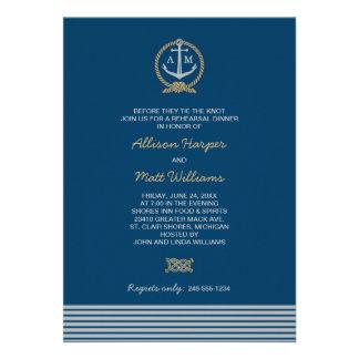 Wedding Rehearsal Dinner Nautical Theme Invites