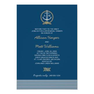 Wedding Rehearsal Dinner | Nautical Theme 13 Cm X 18 Cm Invitation Card