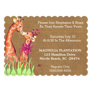 "Wedding Renewal Invitation 5"" X 7"" Invitation Card"