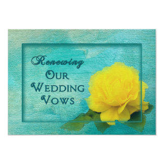 Wedding Renewal of Vows - Yellow Rose 13 Cm X 18 Cm Invitation Card