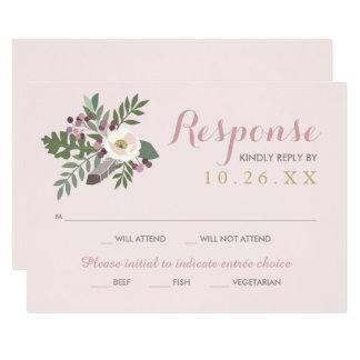 Wedding Response Card   Fall Boho Florals 9 Cm X 13 Cm Invitation Card