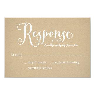 Wedding Response Postcard | Kraft Brown