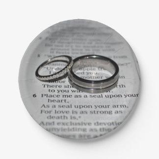 Wedding Rings Bible Verse Disposable Plates