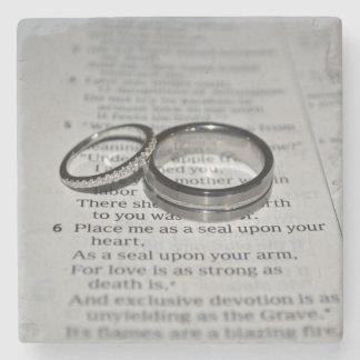 Wedding Rings Coasters Stone Coaster