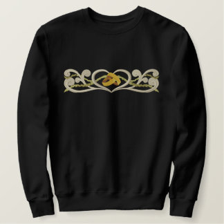 Wedding Rings Heart - No Text Embroidered Sweatshirt