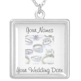Wedding Rings Custom Necklace
