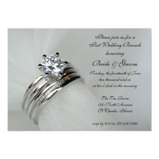 Wedding Rings Post Marriage Brunch Invitation