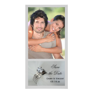 Wedding Rings Save the Date Announcement Card