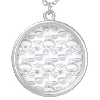 Wedding Rings Silver Plated Necklace