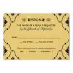 Wedding RSVP Card | Art Deco Style Personalised Invitations