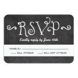 Wedding RSVP Card | Black Chalkboard Charm