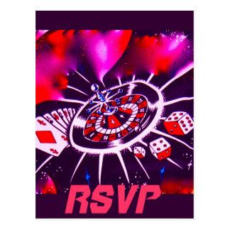 Wedding RSVP CAsino Theme Postcard