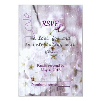 Wedding RSVP Portrait - Cherry Blossom 9 Cm X 13 Cm Invitation Card
