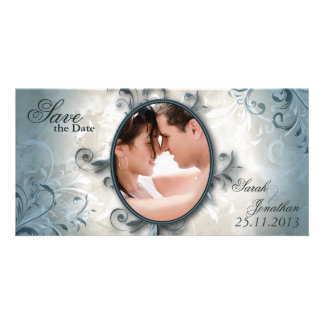 Wedding Save the Date Announcement Vintage Foliage Photo Greeting Card