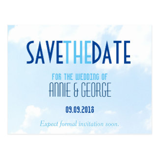 Wedding Save the Date Postcard Winter Wonderland
